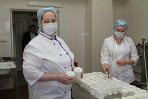 Наборы молочной кухни выдаются в гофрокоробках