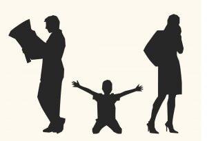 Несовершеннолетние дети и развод