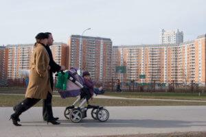 Родители с коляской